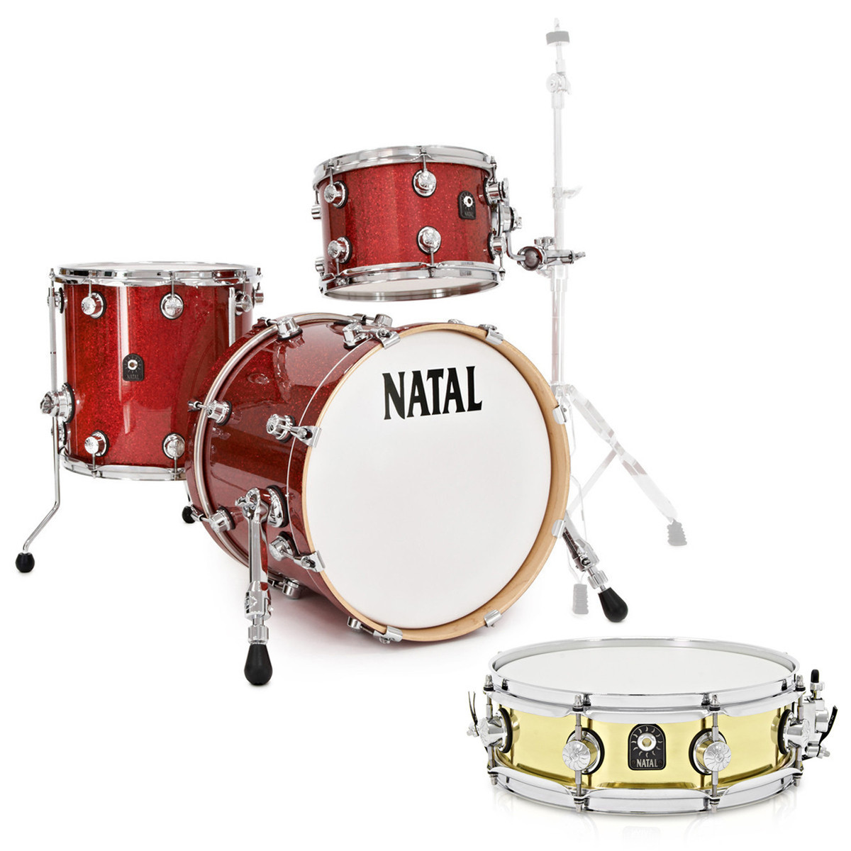 natal maple 3 piece jazz shell pack red sparkle with free snare drum at gear4music. Black Bedroom Furniture Sets. Home Design Ideas