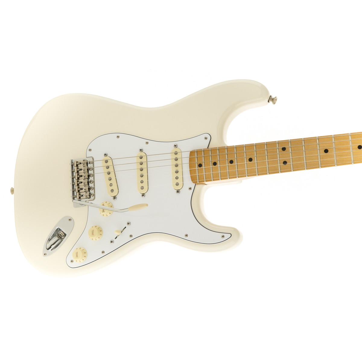 fender jimi hendrix stratocaster olympic white at gear4music. Black Bedroom Furniture Sets. Home Design Ideas