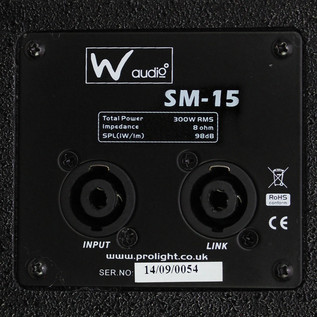 W Audio SM 15 Stage Monitor - 5 5