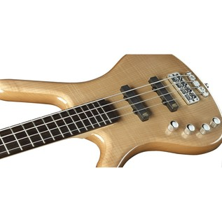 Warwick Rockbass Corvette Premium Left Handed 4-String Bass, Natural