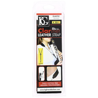 BG Bb Clarinet Leather Strap - Elastic