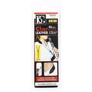 BG Bb Clarinet Leather Strap - Elastic