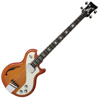 Italia Mondial Deluxe Bass Guitar, Cherry Sunburst with Gig Bag
