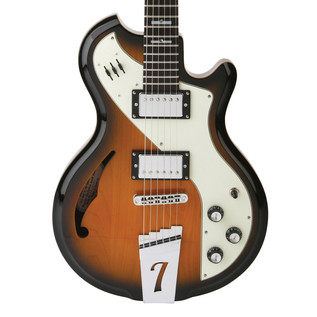 Italia Mondial Deluxe Electric Guitar, Sunburst with Gig Bag