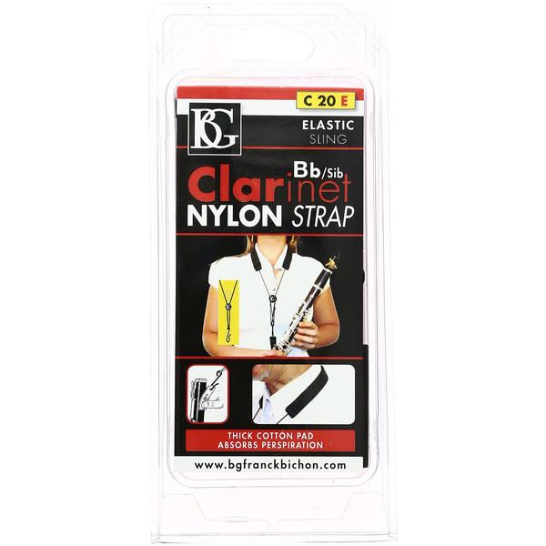 BG Bb Nylon Clarinet Strap - Elastic
