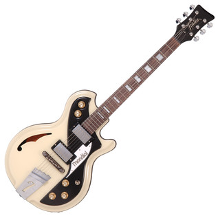 Italia Mondial Classic Electric Guitar, Cream with Gig Bag