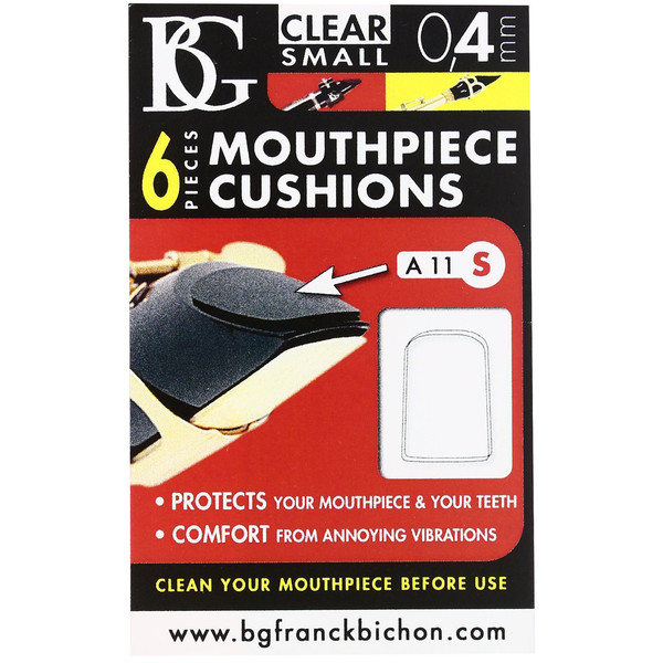 BG Mouthpiece Cushion Sax And Clarinet - Small - 0.4MM (Pack Of 6)