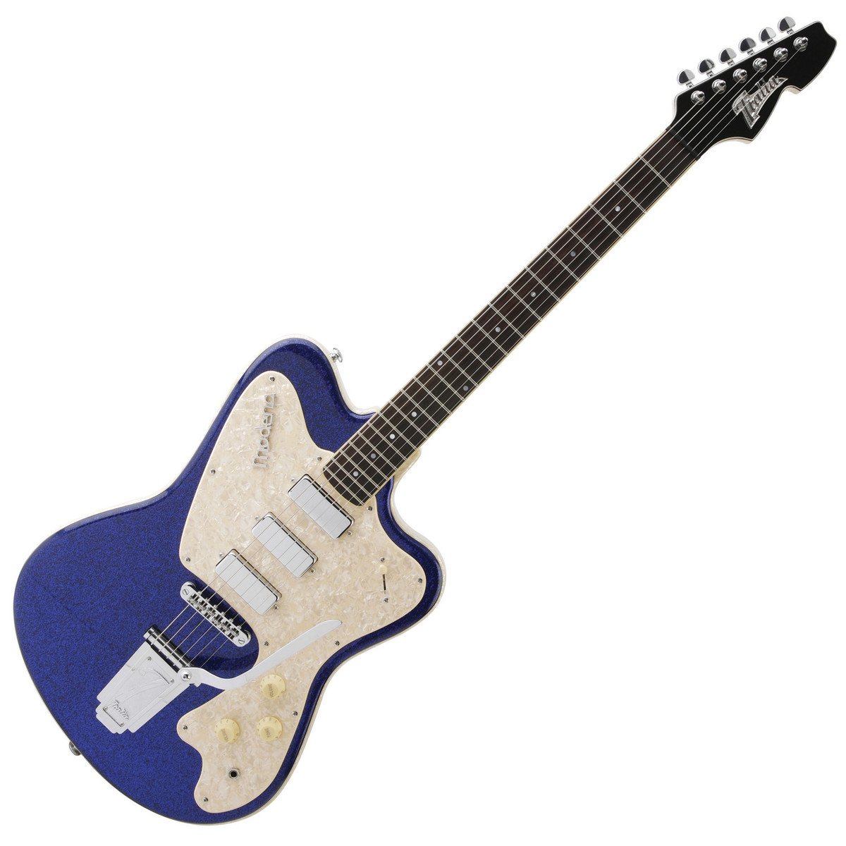 italia modena classic electric guitar blue sparkle with gig bag at gear4music. Black Bedroom Furniture Sets. Home Design Ideas
