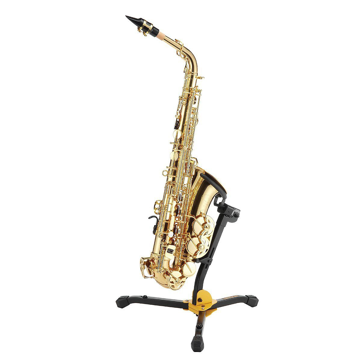 hercules ds630bb alto tenor saxophone stand with bag at gear4music. Black Bedroom Furniture Sets. Home Design Ideas