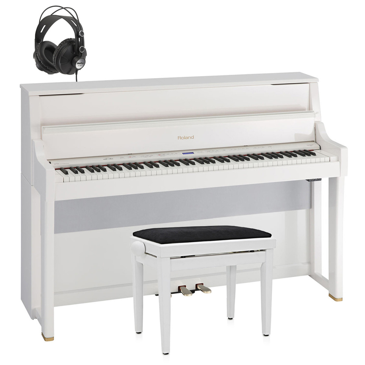 disc roland lx 15e piano num rique blanc tabouret libre et casque. Black Bedroom Furniture Sets. Home Design Ideas