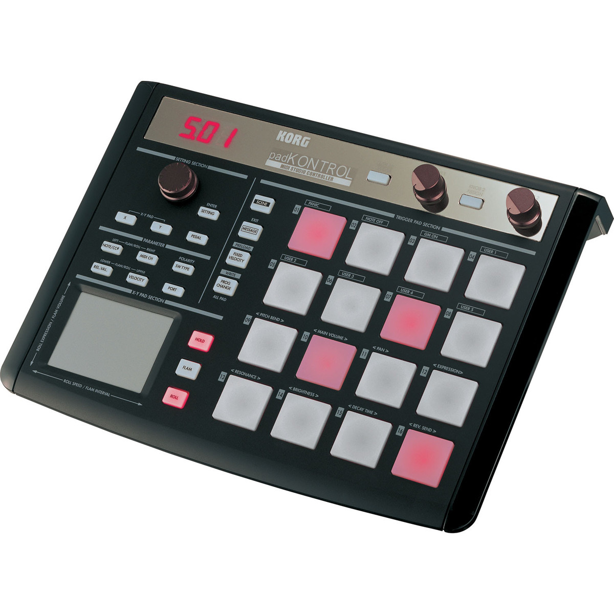 Korg Padkontrol Midi Pad Controller Limited Edition Black
