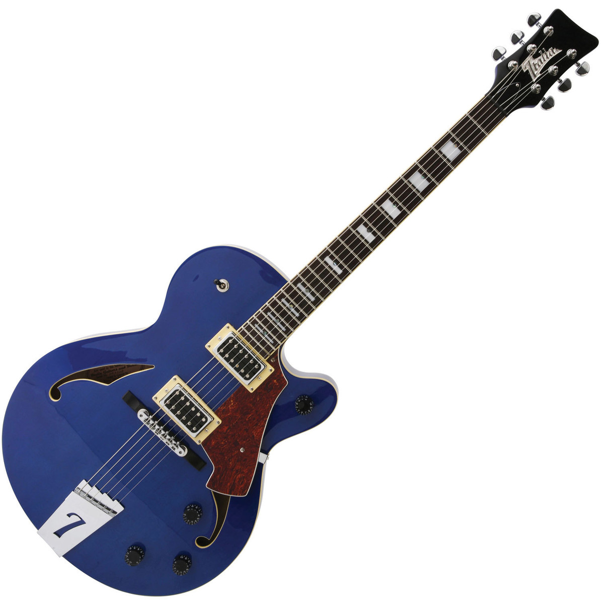 Italia Torino Semi-Hollow Body Electric Guitar, Blue with ...