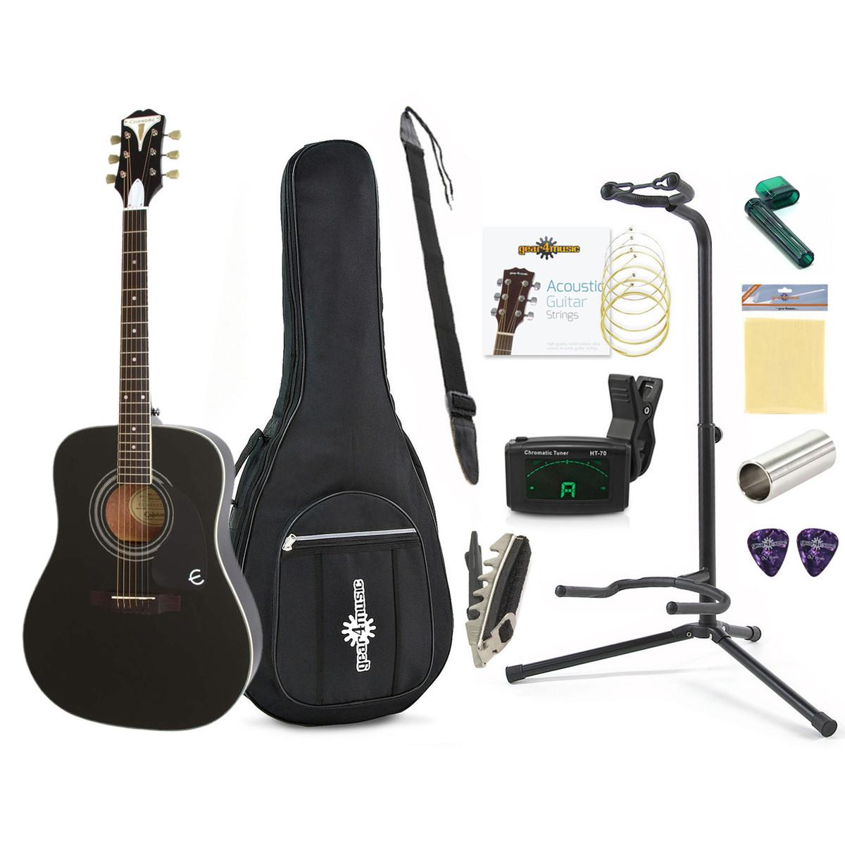 Disc Epiphone Pro 1 Plus Beginners Guitar Pack Black At