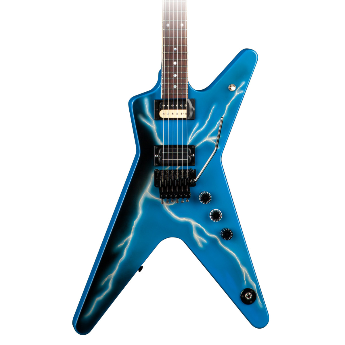 dean usa dimebag commemorative ml limited run lighting blue at gear4music. Black Bedroom Furniture Sets. Home Design Ideas
