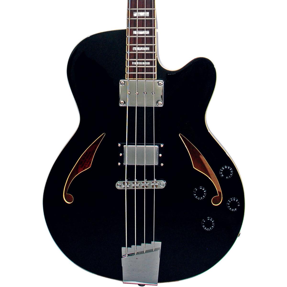 italia torino semi hollow body bass guitar black with gig bag at gear4music. Black Bedroom Furniture Sets. Home Design Ideas