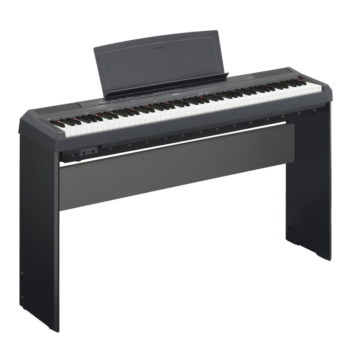 Yamaha p115 digital piano black with matching stand at for Yamaha p115 piano