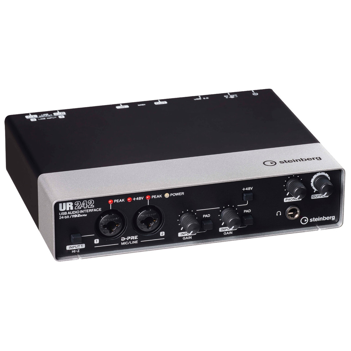 steinberg ur242 usb audio interface at gear4music. Black Bedroom Furniture Sets. Home Design Ideas