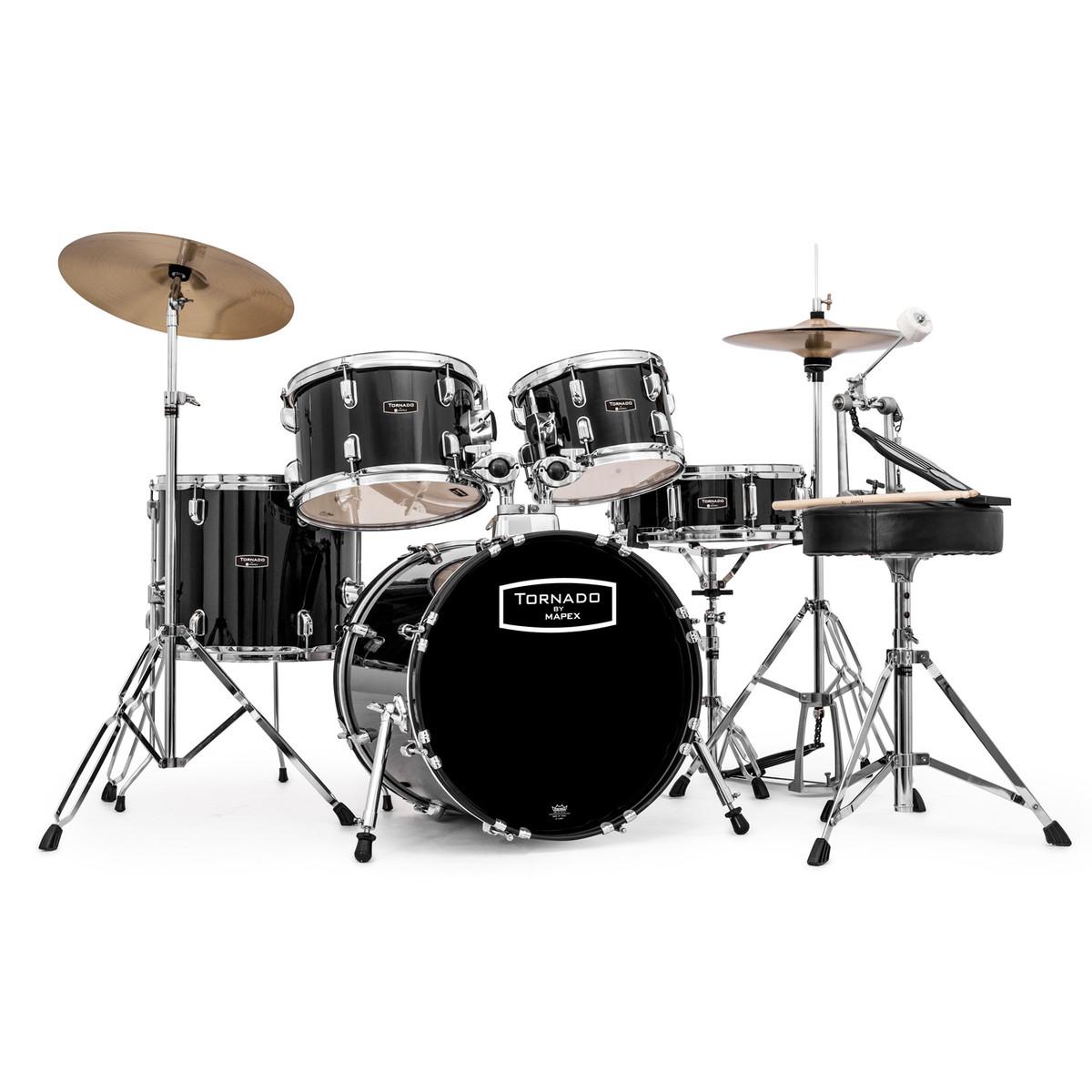 mapex tornado iii compact 18 drum kit black at gear4music. Black Bedroom Furniture Sets. Home Design Ideas
