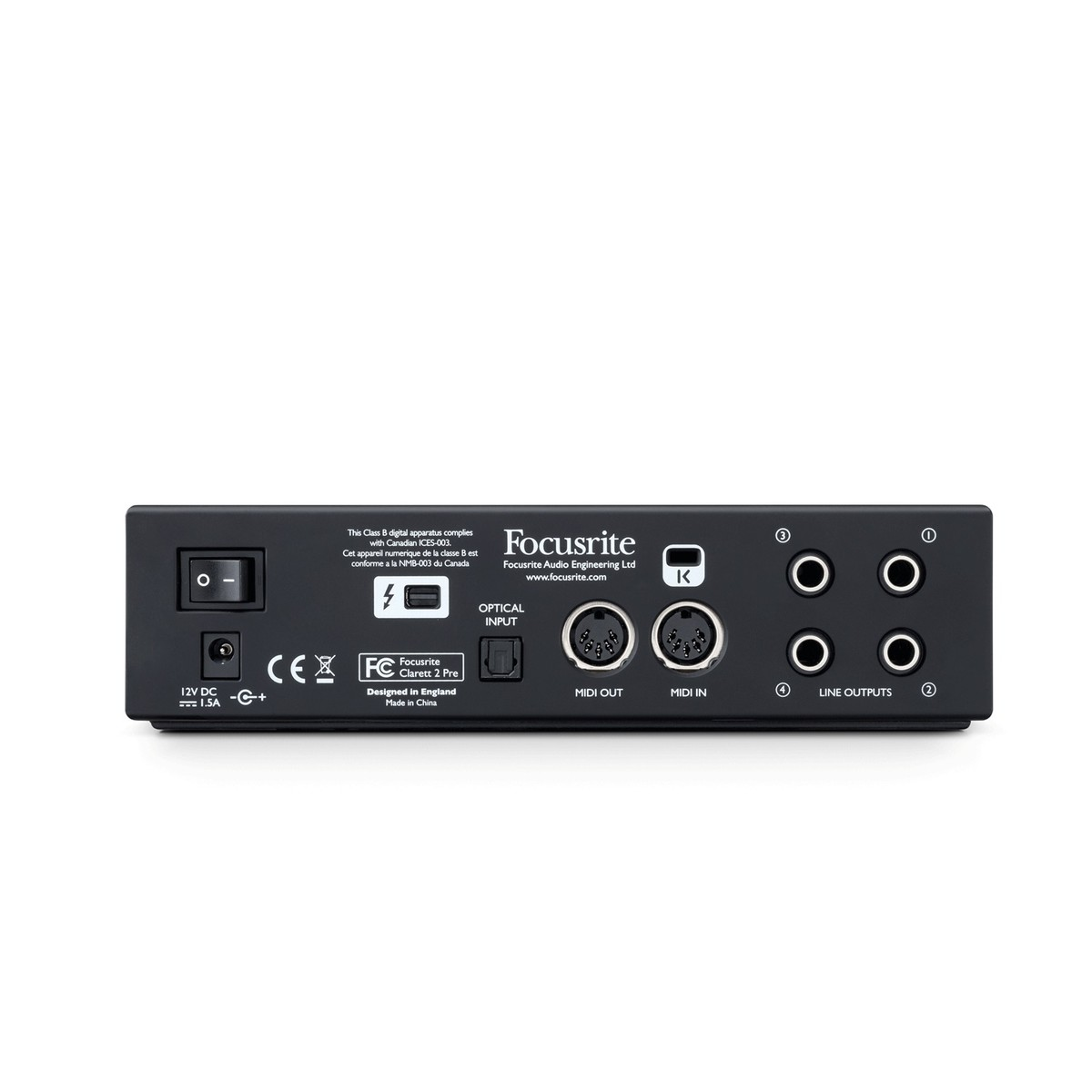 focusrite clarett 2 pre thunderbolt audio interface at gear4music. Black Bedroom Furniture Sets. Home Design Ideas