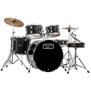 Mapex Tornado III Fusion 20in Drum Kit, Black