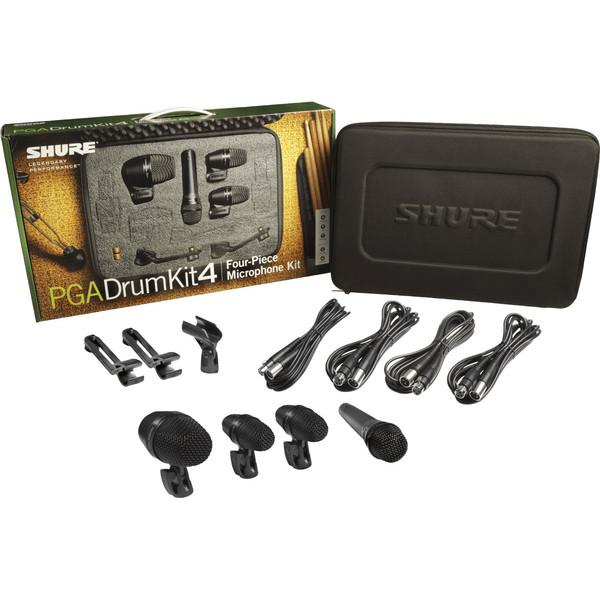 Shure PGADRUMKIT4 Drum Microphone Kit, 4 Piece - Full Kit