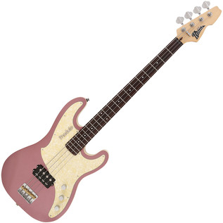 Italia Modulo Standard Bass Guitar, Metallic Burgundy with Gig Bag