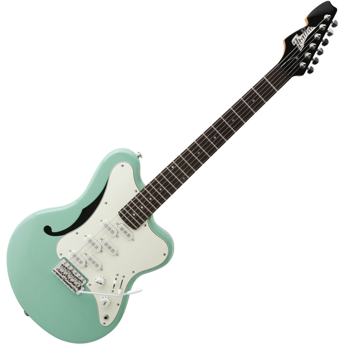 italia imola 6 semi hollow body electric guitar metallic green at gear4music. Black Bedroom Furniture Sets. Home Design Ideas
