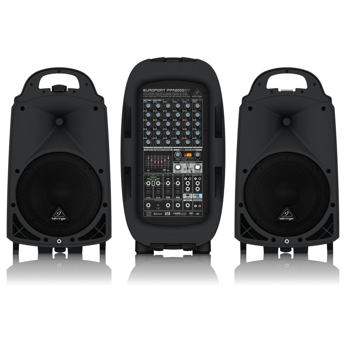 behringer europort ppa2000bt 8 channel portable pa system at gear4music. Black Bedroom Furniture Sets. Home Design Ideas