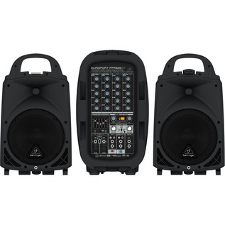 Behringer Europort PPA500BT 6 Channel Portable PA System - Front View
