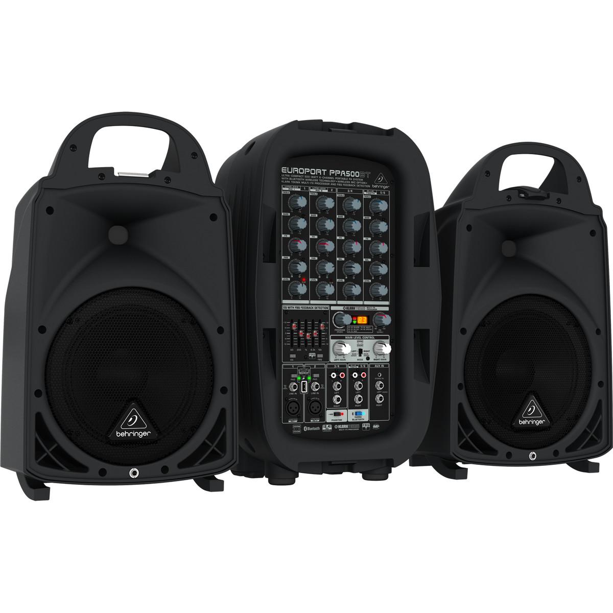 behringer europort ppa500bt 6 channel portable pa system at gear4music. Black Bedroom Furniture Sets. Home Design Ideas