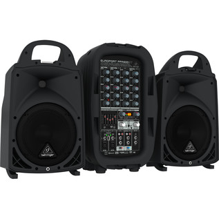 Behringer Europort PPA500BT 6 Channel Portable PA System - Side View
