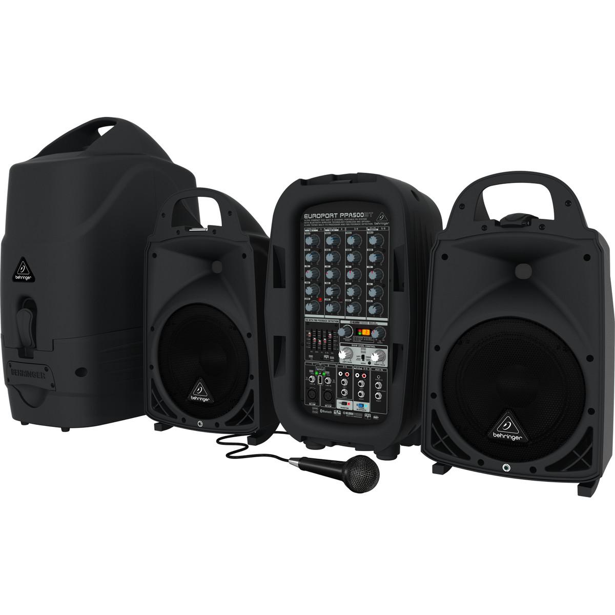 Behringer Europort PPA500BT 6 Channel Portable PA System