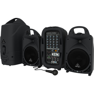 Behringer Europort PPA500BT 6 Channel Portable PA System - With Microphone