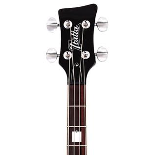 Italia Rimini 4 Bass Guitar, Black with Gig Bag