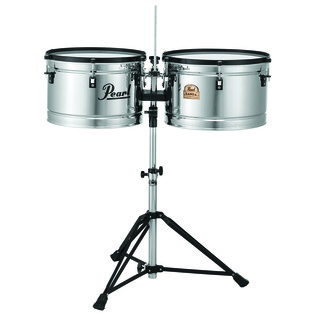 Pearl Banda Steel Timbales with Stand