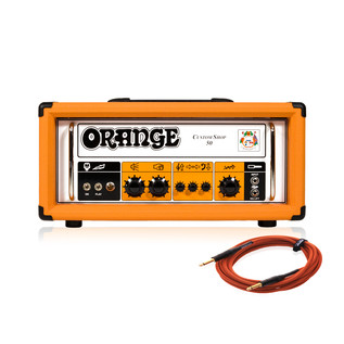 Orange Custom Shop 50 50W Guitar Amp Head + Free Cable
