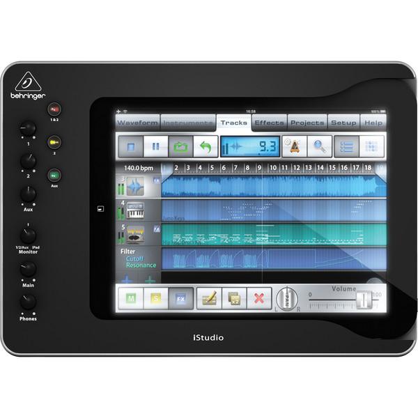 Behringer iStudio iS202 iPad Mixer Dock - Top View