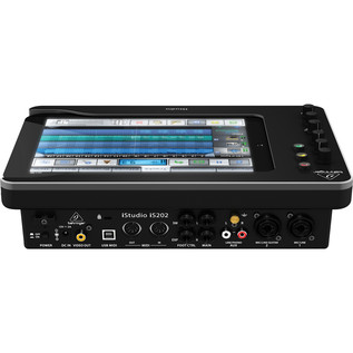 Behringer iStudio iS202 iPad Mixer Dock - Rear View