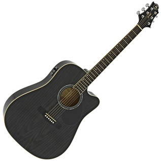 Greg Bennett D-4CE Electro Acoustic Guitar, Trans Black