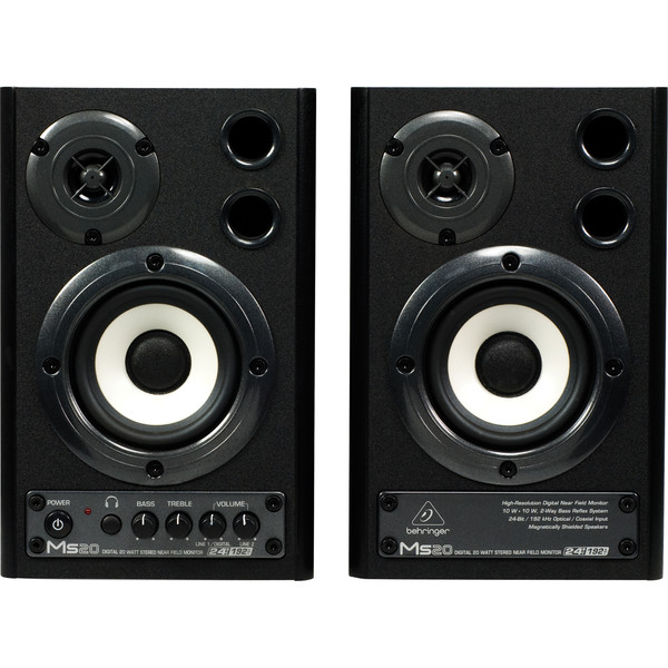 Behringer MS20 Digital Monitor Speakers (Pair) - Front View