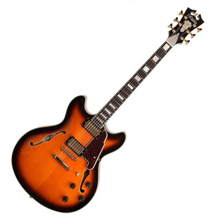 D'Angelico EXDCSP Semi-Hollow Body Electric Guitar, Vintage Sunburst