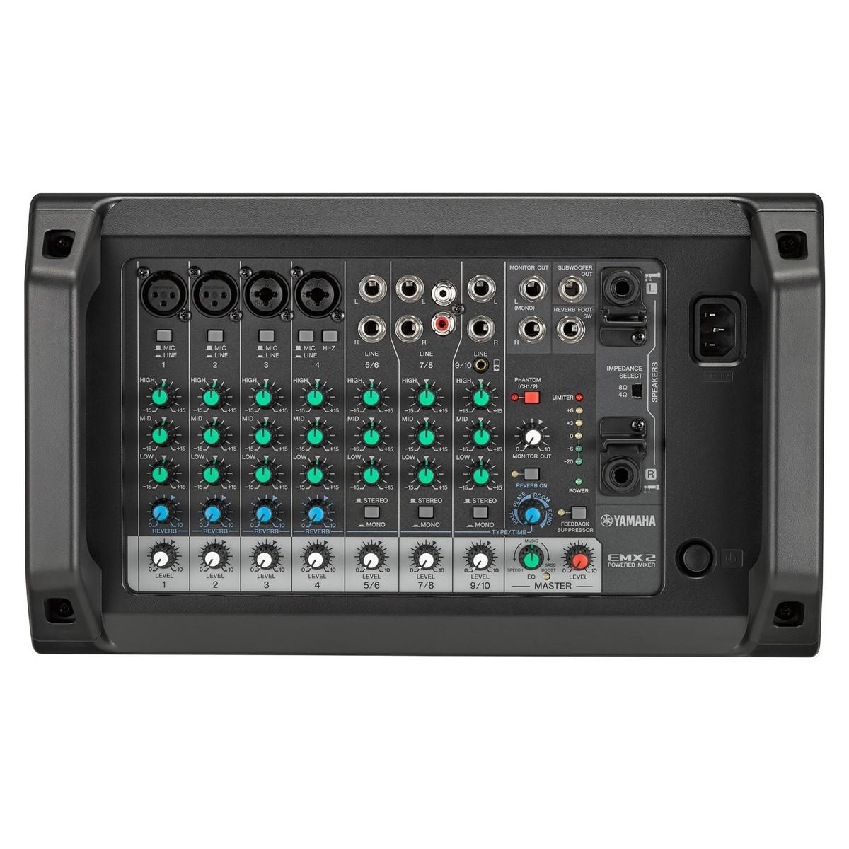 yamaha table de mixage amplifiée 500w emx2 à gear4music