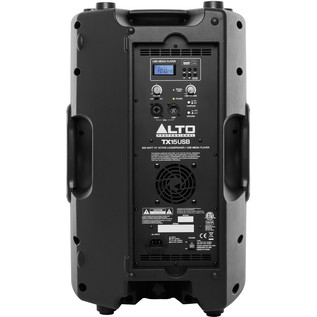 Alto TX1USB 600-Watt Active Speaker with Media Player - Rear View