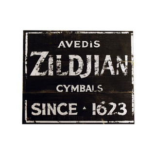 Zildjian Vintage Factory Wooden Sign