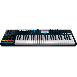 Alesis VX49 Controller Keyboard with VST Integration - Angled View