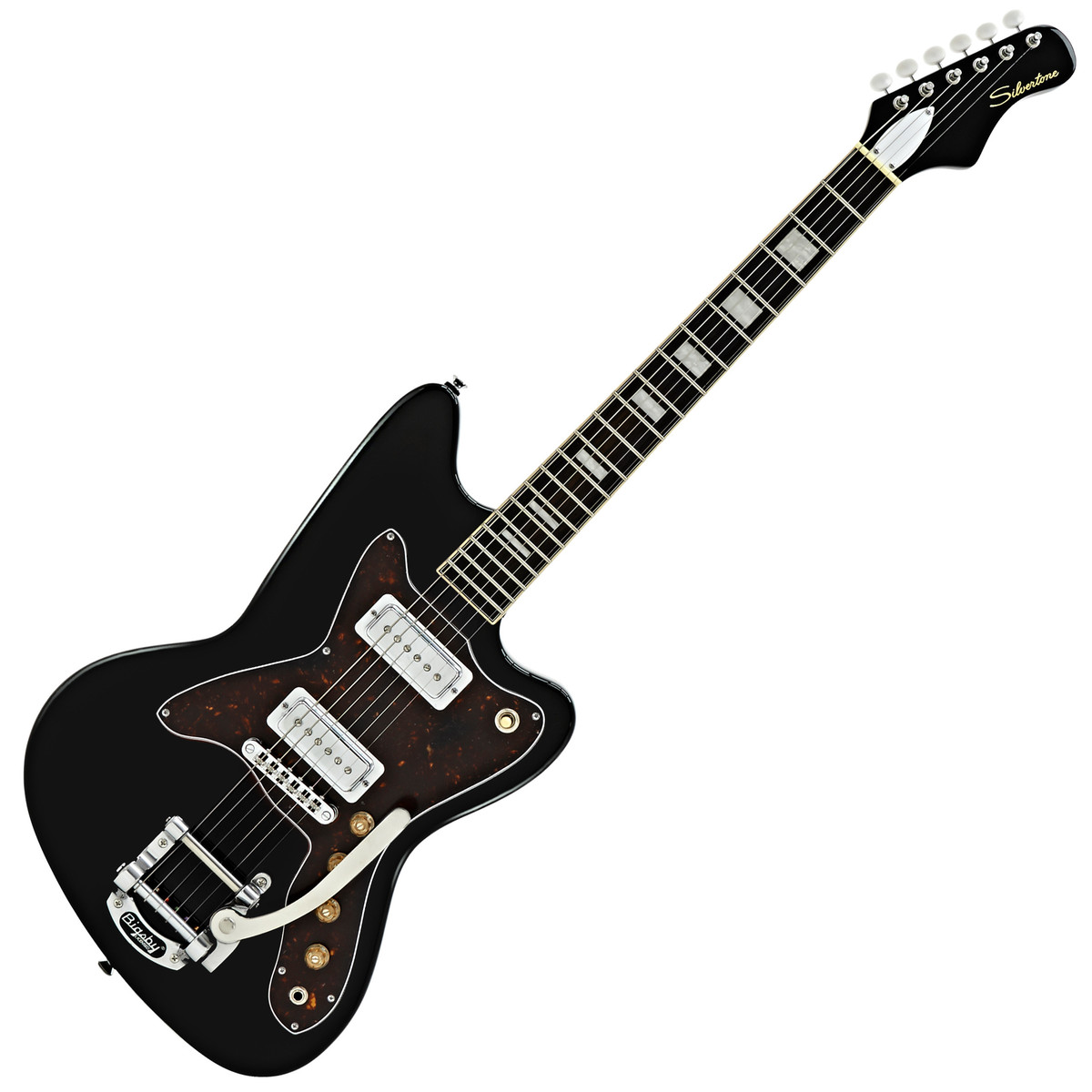 silvertone 1478 electric guitar black at gear4music. Black Bedroom Furniture Sets. Home Design Ideas