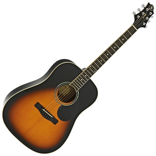 Greg Bennett GD-100RS Acoustic Guitar, Vintage Sunburst