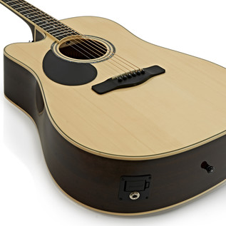 Greg Bennett GD-100SCE Left Handed Electro Acoustic Guitar, Natural