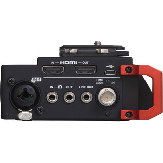 Tascam DR701D 6-Track Recorder for DSLR Cameras with HDMI - Side View 2