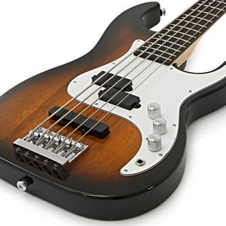 Greg Bennett Corsair CR-15 5-String Bass Guitar, Tobacco Sunburst